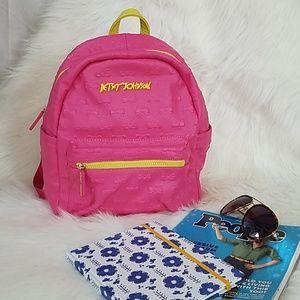 NWOT Betsey Johnson Pink Bow Backpack Med